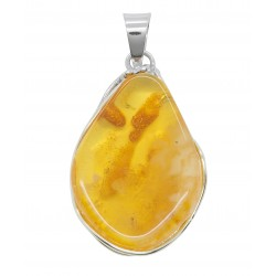 Pendant amber honey and silver 925/1000