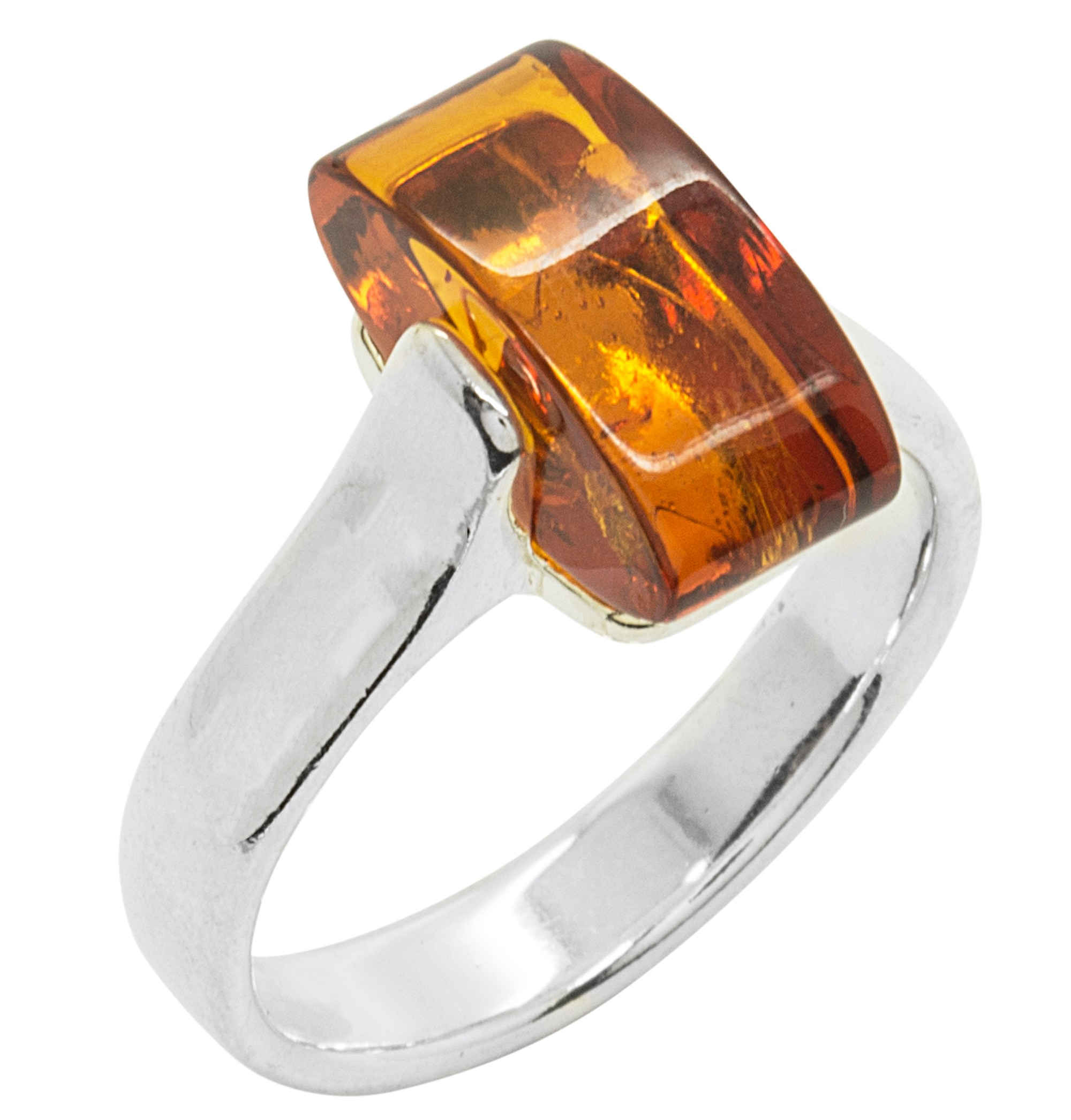 bague or blanc ambre