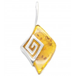 Greek / Roman pendant in honey amber and silver 925/1000