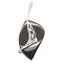 Large pendant in cherry amber and silver 925/1000