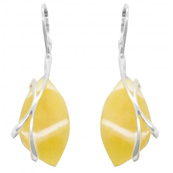 Boucles d'oreilles ambre royal
