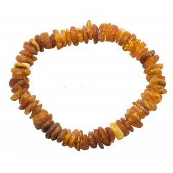 Raw amber bracelet for adults