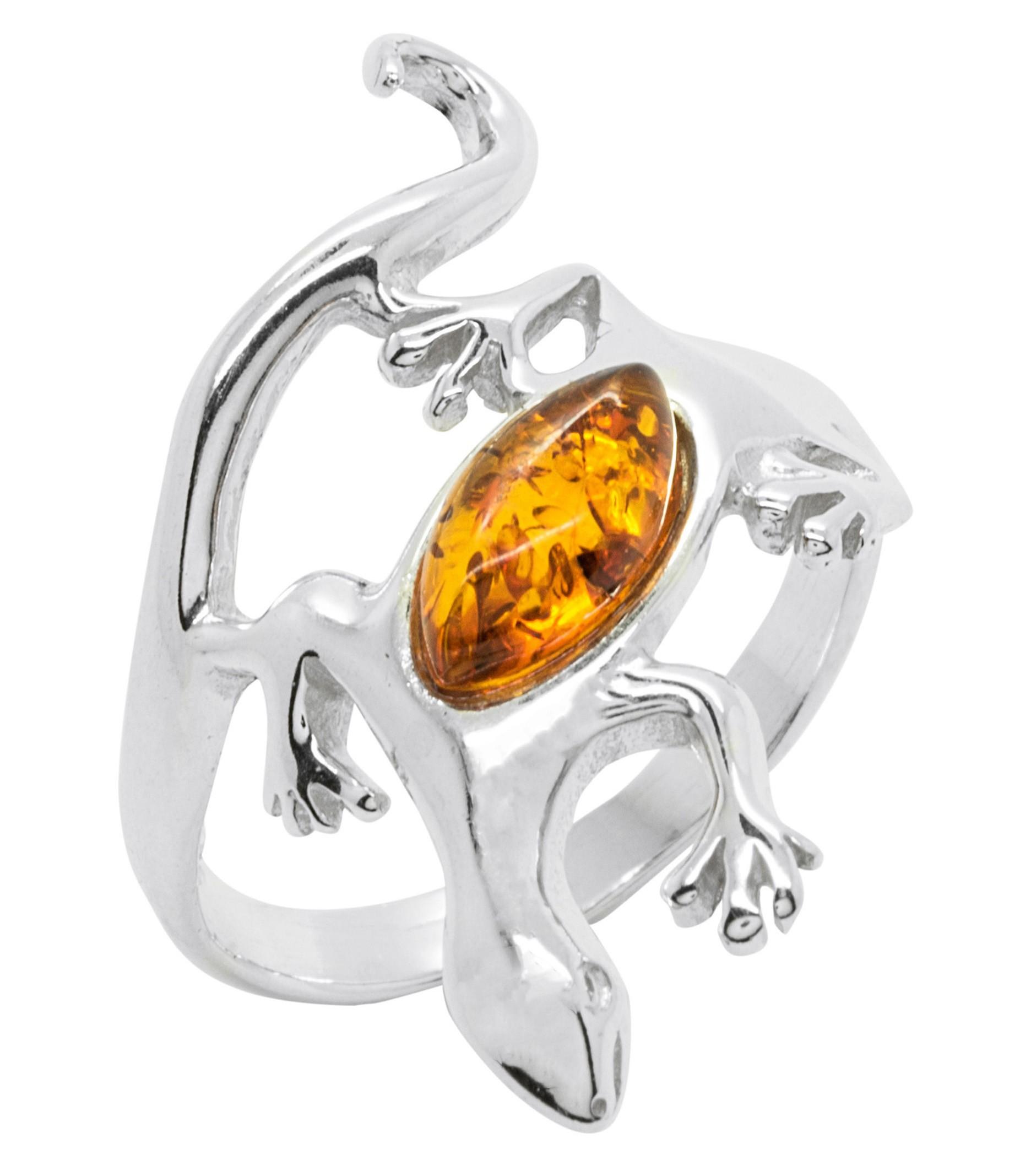 bague or blanc et ambre