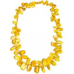 Bernstein-Farbe Blütenblatt Halskette Honig
