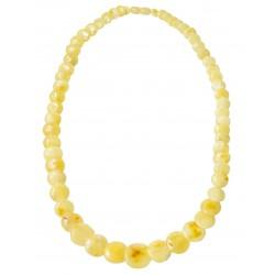 collar de ámbar real con forma de botón de perlas