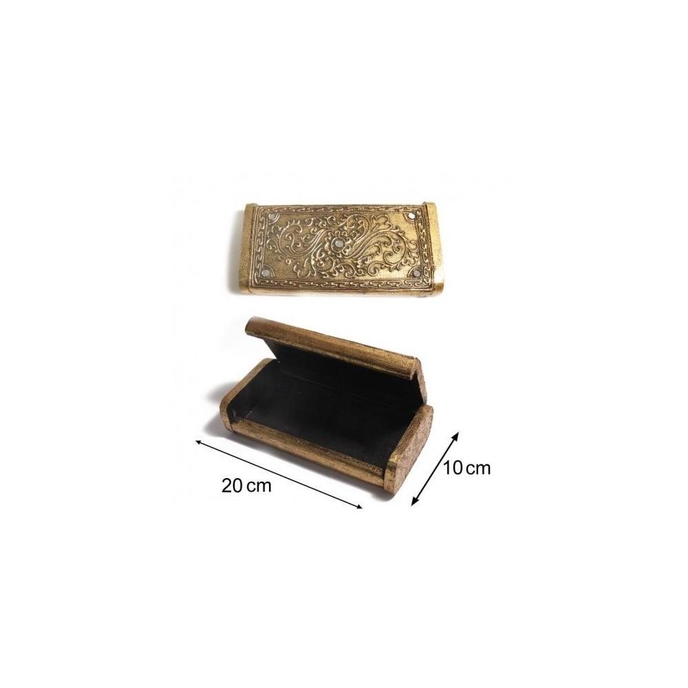 sg paris boite a bijoux bois femme dore bijoux d 39 ambre. Black Bedroom Furniture Sets. Home Design Ideas