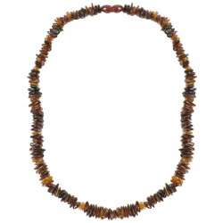 Necklace with baroque cognac amber beads, aduld size