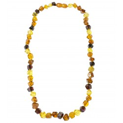 Adult necklace with multicolour amber
