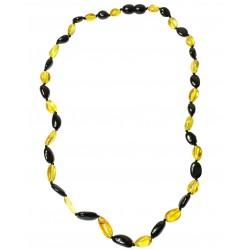 collana adulti ambra perle di limone e ciliegia