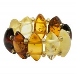 Cualquier anillo de color ámbar en forma de diamante