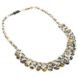 Mosaik Bernstein Halskette Modell Cleopatra