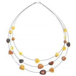 Halskette von bernsteinfarbenem Honig, Zitrone, königlich und Cognac