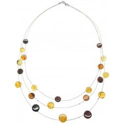Collier d'ambre multicolore