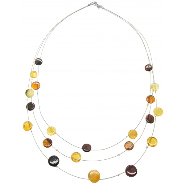 Collier d'ambre multicolore