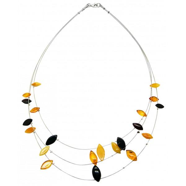 Collier d'ambre adulte multicolore