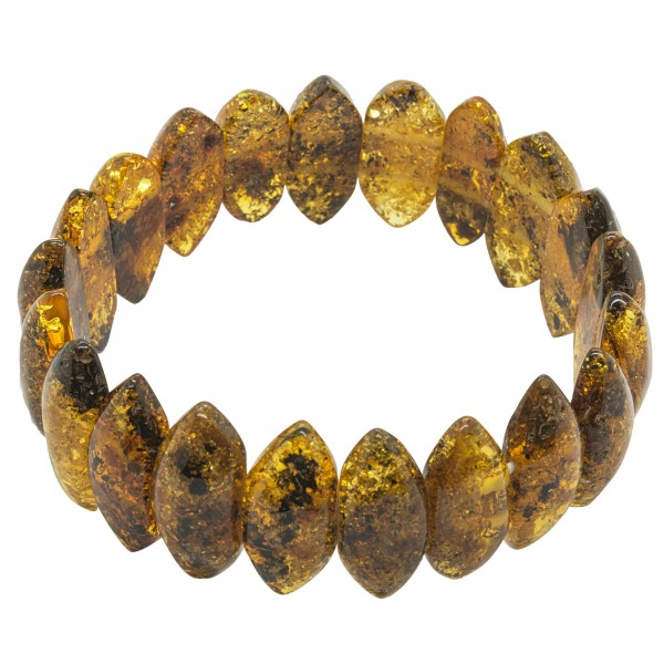 Women's Bracelet in Natural Green Amber