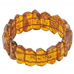 Bracelet d'ambre adulte cognac