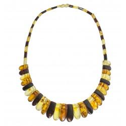 mehrfarbig Bernstein Halskette Modell Cleopatra