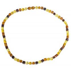 Erwachsene Halskette mit bunten Bernstein Würfel