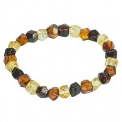 Amber bracelet cut multicolor
