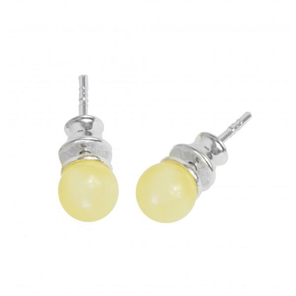 Amber earrings stud