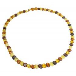 collana adulto con il tasto vera ambra multicolore