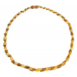 Small adult amber necklace (lemon and cognac)
