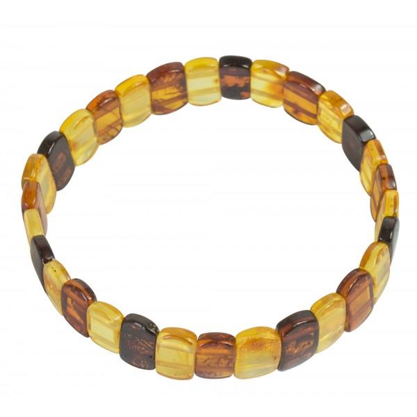 Bracelet d'ambre Adulte, palette d'ambre multicouleur