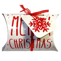 """caja de amortiguador de Navidad """"Feliz Navidad"""""""