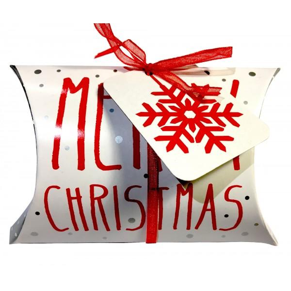 "Boîte coussin de Noël ""Merry Christmas"""