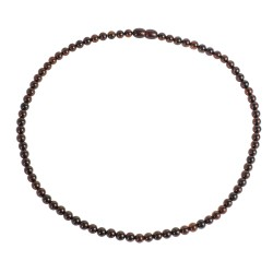 Perfecly round beads cherry amber necklace