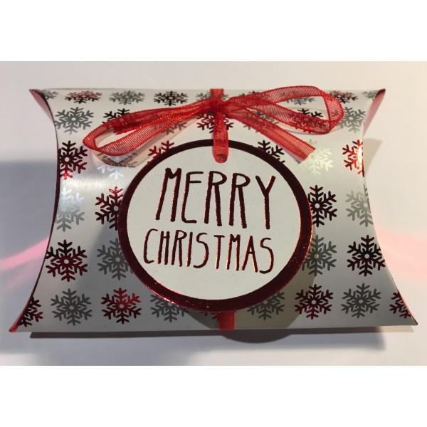 """Boîte coussin de Noël """"Joyeux Noël"""""""
