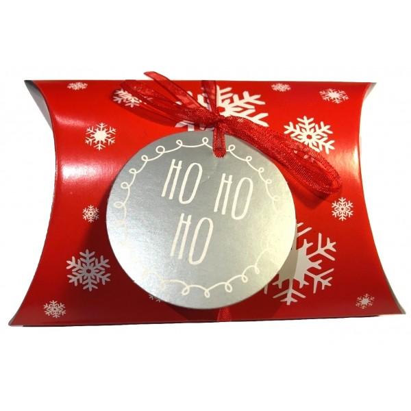 """Boîte coussin de Noël """"Ho, Ho, Ho"""""""