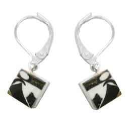 orecchino ambra mosaico