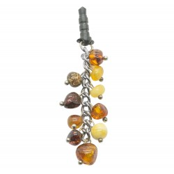 Multicolored Natural Amber Phone Jewelry