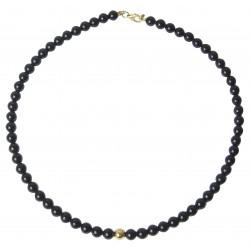 Ámbar multicolor collar de perlas cilíndrica