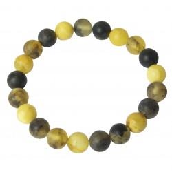 Bracelet perle d'ambre brute multicouleur