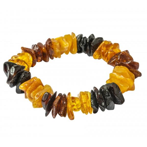 Bracelet éclat d'ambre multicolore