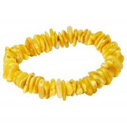 Bracelet pétale d'ambre blanc