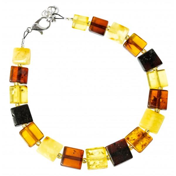 Bracciale in ambra multicolore