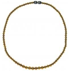 Collar de ámbar multicolor de perlas ronda adicional