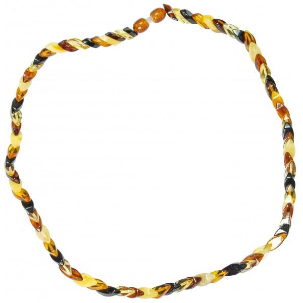 Petit collier adulte ambre multicolore