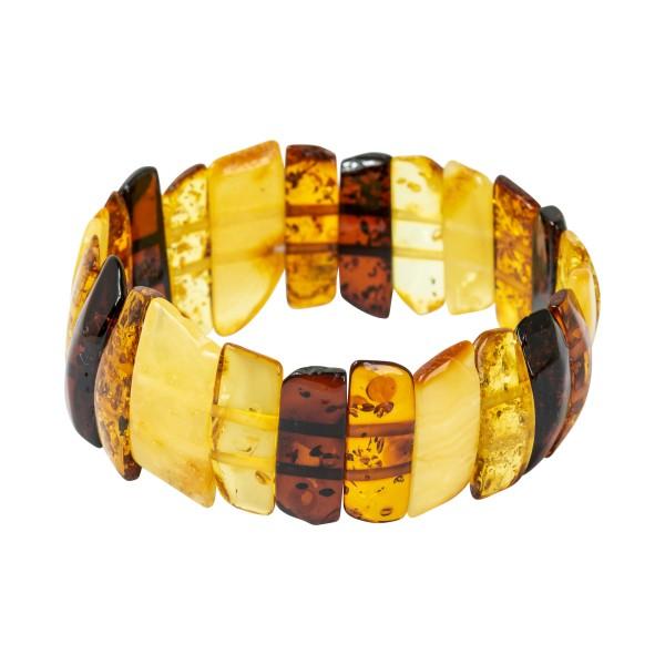 Bracelet en ambre multicouleur - ambre brut et poli