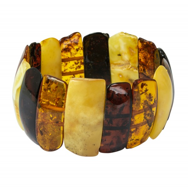 Gran multicolor pulsera Ámbar natural