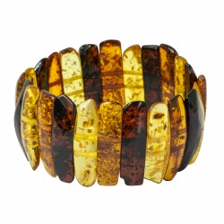 Baroque multicolored amber bracelet