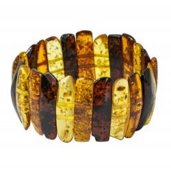 Bracelet en ambre multicouleur style baroque