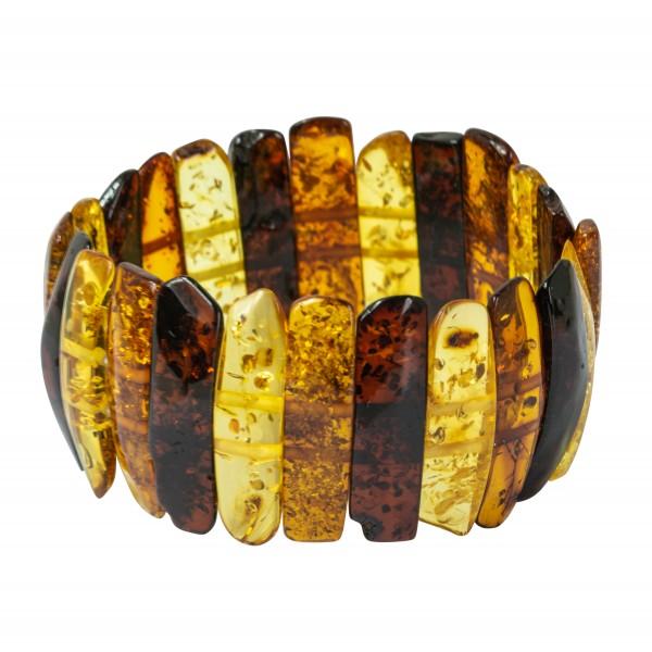 Baroque multicolored amber bracelet