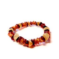Bracelet bébé en ambre multicolore