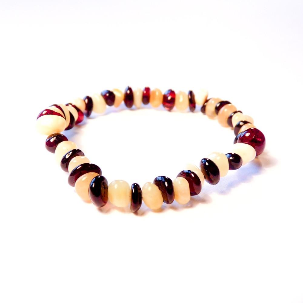 bracelet en ambre b b cerise et blanc bijoux d 39 ambre. Black Bedroom Furniture Sets. Home Design Ideas
