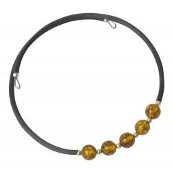 Bracciale Fisarmonica 2 diventa color ambra multicolor